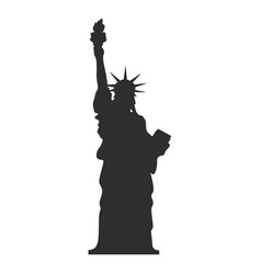 statue of liberty silhouette images vector image