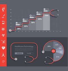 Stethoscope heart creative design ideas concept vector