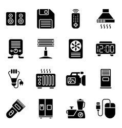 Technological devices solid pack vector