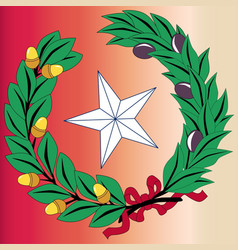 texas laurel leaf and star vector image