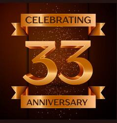 Thirty three years anniversary celebration design vector