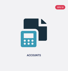 Two color accounts icon from user interface vector