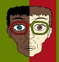 Two faces vector