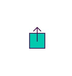 upload icon design essential icon design vector image