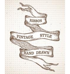 Vintage hand-drawn ribbon banner vector