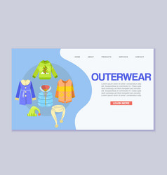 winter clothes or outerwear web template vector image