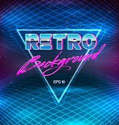 80s Retro Sci-Fi Background vector image vector image