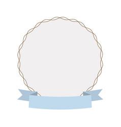 label round decoration ribbon vector image