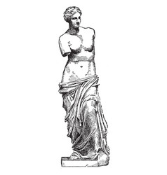 venus de milo is a famous ancient greek statue vector image