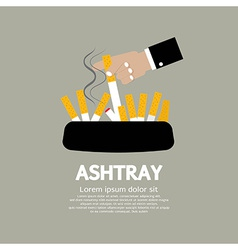 Ashtray With Cigarette Lighted vector image