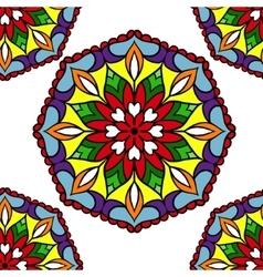 Colorful circle flower mandalas vector image