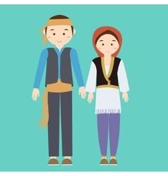 couple man woman turkish wearing turk turkey vector image