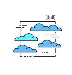 line icons with symbol weather isolated clouds vector image vector image