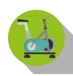 Spinning bike machine isolated icon vector