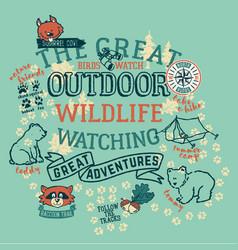 the great outdoor wildlife watching vector image