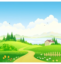 Rural path vector image