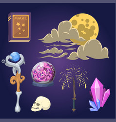 special magic effect trick symbol magician wand vector image
