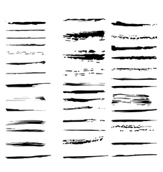 Collection of design elements Grunge brush strokes vector image vector image