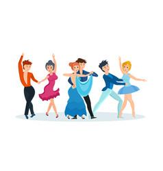 dances tango gentle waltz beautiful ballet vector image