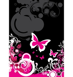 floral butterfly background vector image vector image