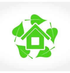 Green House Emblem vector image vector image