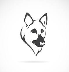 image of an german shepherd face vector image