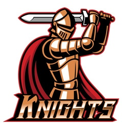 knight mascot with sword vector image