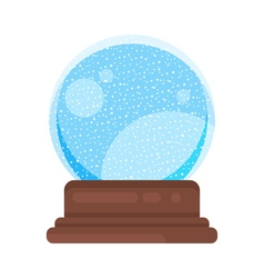 new year and xmas glass ball vector image