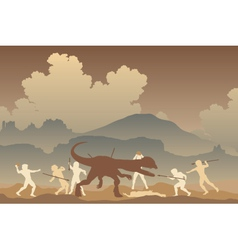 Primeval fight vector image vector image