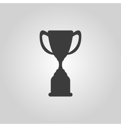 The goblet icon Achievement symbol Flat vector image vector image