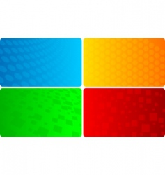 vector set of abstract template vector image