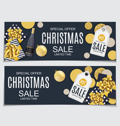 abstract christmas sale vector image