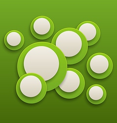 Abstract green brochure background with circles vector
