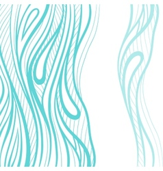 Abstract hand drawn decotative waves background vector