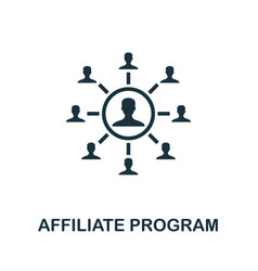 Affiliate program icon simple element from vector
