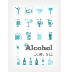 Alcohol Infographic Template vector image