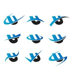 Alphabet u logo icons vector
