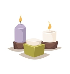Aroma candle vector image