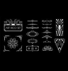 Art deco elements set vector