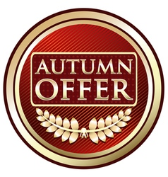 Autumn Offer Red Label vector image