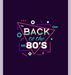 back to 80s print vector image