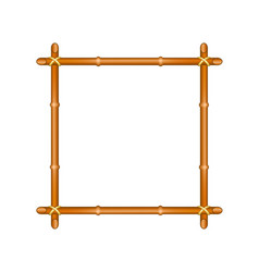 Bamboo frame in brown design vector