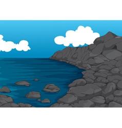 beautiful coast vector image