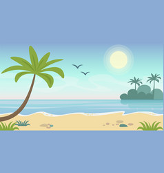 beautiful seaside tropical vector image