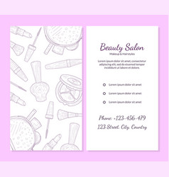 beauty salon banner template with place for your vector image