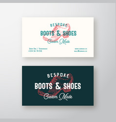 bespoke boots retro sign symbol or logo vector image