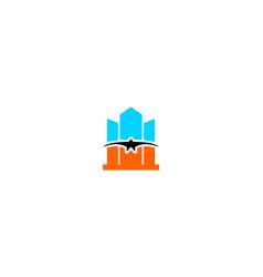 bird building logo vector image
