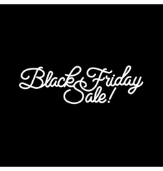 Black Friday sale design vector image