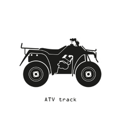 Black silhouette of ATV on a white background vector