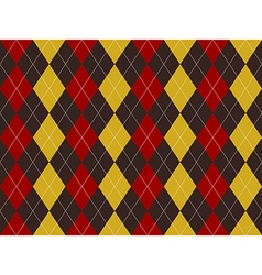 Brown red yellow argyle texture seamless pattern vector image